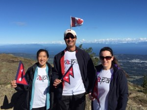 Downtown Nanaimo Dental Group team mount Benson hike for Nepal 2015